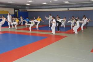 Cours de capoeira pour enfants au complexe sportif de la corderie à Sarre-Union