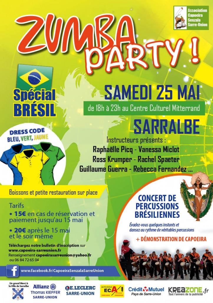 zumba party special bresil à sarralbe 25 mai 2013
