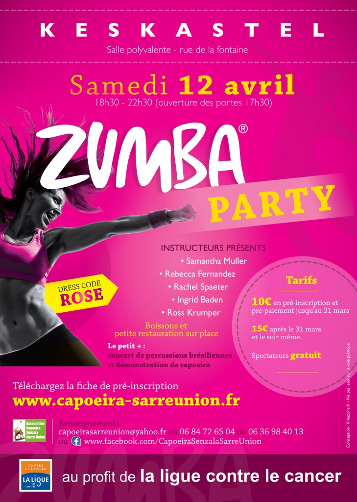 zumba party keskastel ligue contre le cancer
