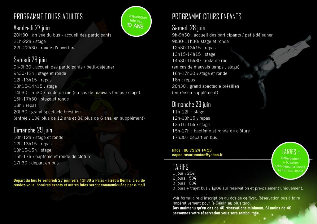 Programme festival capoeira senzala de sarre-union